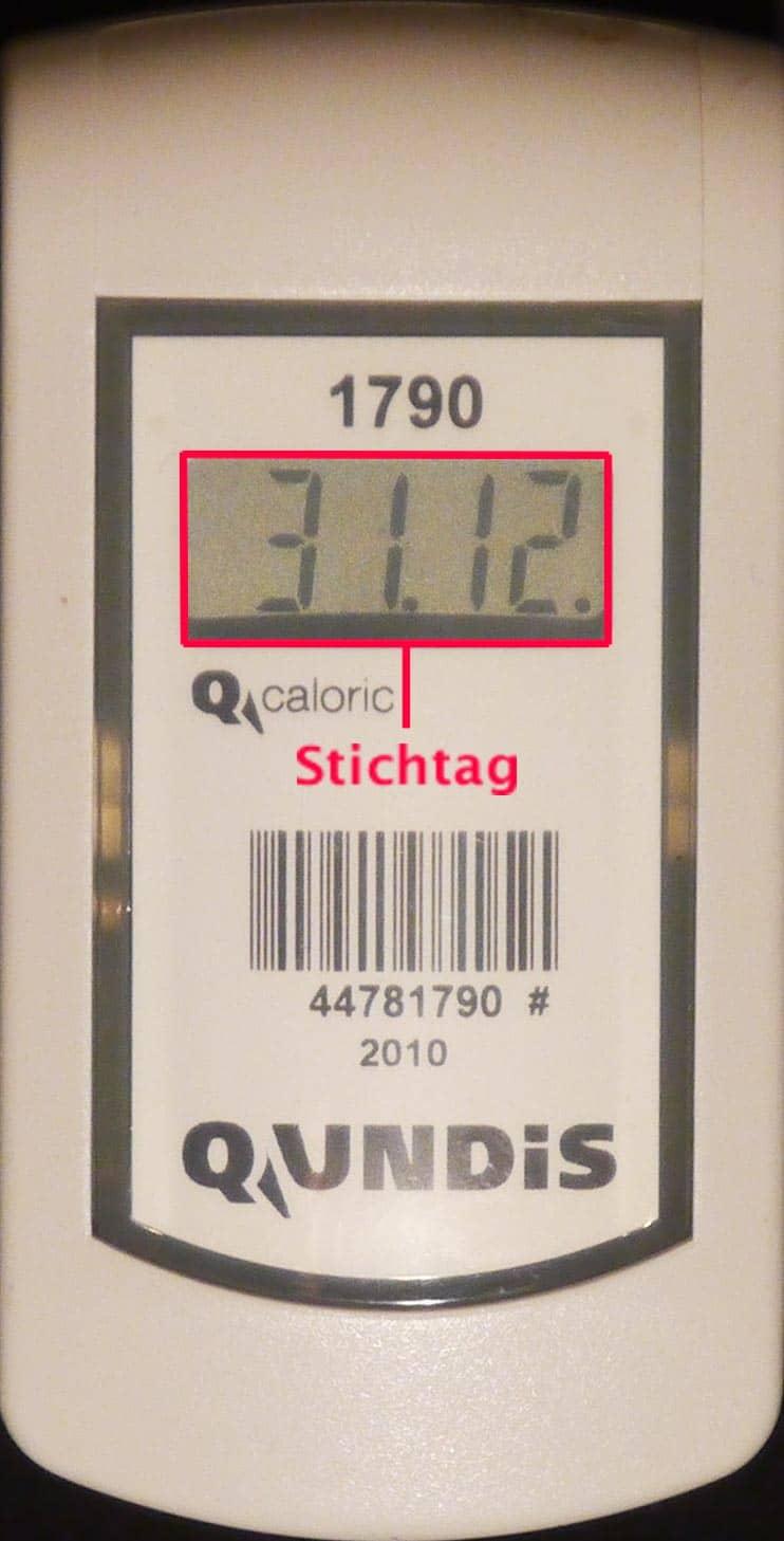 Ablesung bei elektronischen Heizkostenverteilern